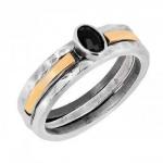 Кольцо Deno из серебра с ониксом и золотом MVR1770/2GON