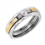 Кольцо Deno из серебра с жемчугом и золотом MVR1770/2GPL