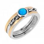 Кольцо Deno из серебра с опалом и золотом MVR1770/GOP
