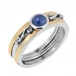 Кольцо Deno из серебра с кианитом и золотом NVR1770/GKT