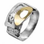 Кольцо Deno из серебра с фианитами MVR578GCZ и золотом