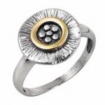 Кольцо Deno из серебра с золотом MVR1733G
