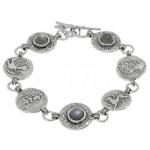 Браслет Deno из серебра с лабрадором 01B1063LB