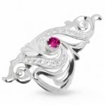 Серебряное кольцо Узор Утум K057-2