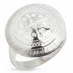 Серебряное кольцо Узор Утум K023
