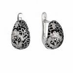 Серебряные серьги Sandara Ice с фианитами и эмалью IME9144