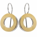 Серебряные серьги Yaffo с золотом SAE009