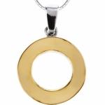 Серебряный кулон Yaffo с золотом SAP062