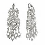 Серебряные серьги Узор Утум CH036