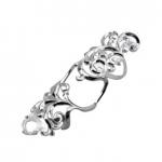 Серебряное кольцо на две фаланги Узор Утум K147