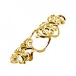 Золотое кольцо на две фаланги Узор Утум K147G