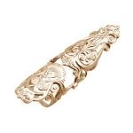 Золотое кольцо на две фаланги Узор Утум K098G