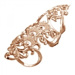 Золотое кольцо на две фаланги Узор Утум K181G
