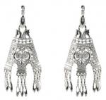 Серебряные серьги Узор Утум CH046