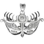 Серебряная подвеска-оберег Узор Утум ПO030