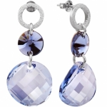 Серебряные серьги Monella с кристаллами Сваровски MOE0344.