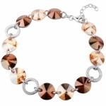 Серебряный браслет Monella с кристаллами Сваровски MOB0222