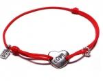 Браслет Любовь в сердце серебро MB0001
