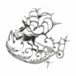 Брошь из серебра Узор Утум B029