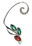 Серебряная серьга-кафф Узор Утум с фианитами C125-12