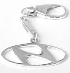 Брелок для автомобиля из серебра Hyundai