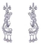 Серебряные серьги Узор Утум CH082