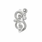 Серебряная серьга Узор Утум C151