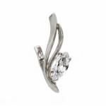 Серебряная серьга Узор Утум фианитом C139-1