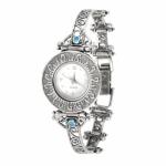 Серебряные часы Yaffo с золотом и опалом 01-SAW509