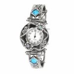 Серебряные часы Yaffo с опалом 01-SAW626