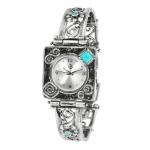 Серебряные часы Yaffo с опалом 01-SAW632