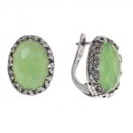 Серебряное кольцо Yaffo с зеленым кварцем SAE528