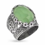 Серебряное кольцо Yaffo Yaffo с зеленым кварцем SAR529
