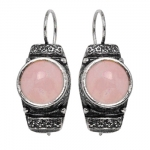 Серебряное кольцо Yaffo с розовым кварцем SAE525