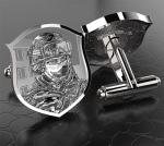 Запонки серебряные из коллекции Вежливые люди