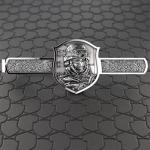 Зажим для галстука серебряный Вежливые люди