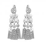 Серебряные серьги Узор Утум CH010