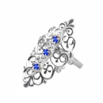 Серебряное кольцо Узор Утум K086-3