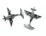 Запонки самолеты серебро MC0009.