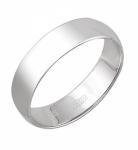 Обручальное кольцо из белого золота.