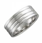 Обручальное кольцо из серебра 01О050215
