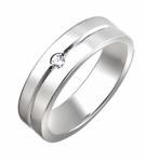 Обручальное кольцо из серебра 01О150077
