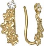 Золотые серьги пины 01С138140