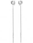 Серебряные серьги протяжки 01С157248