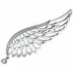 Брошь - булавка из серебра 01Ш150141