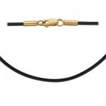 Колье-шнурок каучуковый с золотом 0РЛ010434