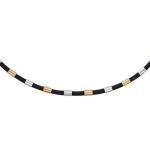 Колье-шнурок каучуковый с золотом 0РЛ060495