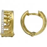 Серьги конго из желтого золота 01С137417