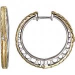 Серьги-кольца из серебра 01С158253А