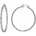 Серьги-кольца из серебра 01С158260